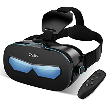 21b664c0fb9 AOGUERBE 3D VR Headset with Remote Controller 3D  Amazon.co.uk ...