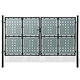 senluowx schwarz Double Door Zaun Tor 300x 250cm