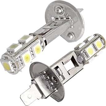 2X H1 AMPOULE LAMPE 5050 SMD 9 LED BLANC 1.2W POUR VOITURE