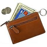Homebunnyy RFID Tarjetero de Crédito de Cuero Sintético con Cremallera Impermeable Monedero de Tarjeta Billetera Cartera de Cuero para Colección Protección de Tarjetas