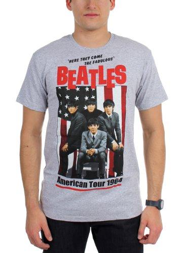 Beatles, The - Männer 1964 Tour-T-Shirt Grey