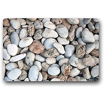 DOUBEE Custom Pebble Doormat Garden U0026 Home Non Slip Rubber Door Mat Indoor/Outdoor  Entrance Mats 60cm X 40cm