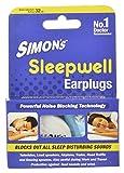 Simon's Sleepwell Earplug (Blue, 3-Pair)
