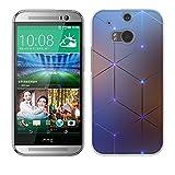 Fubaoda HTC One M8 / M8S Hülle Case, [Elektromagnetischer Diamant] Ultra Dünn Handyhülle Cover Soft Premium-TPU Durchsichtige Schutzhülle Backcover Slimcase für HTC One M8 / M8S