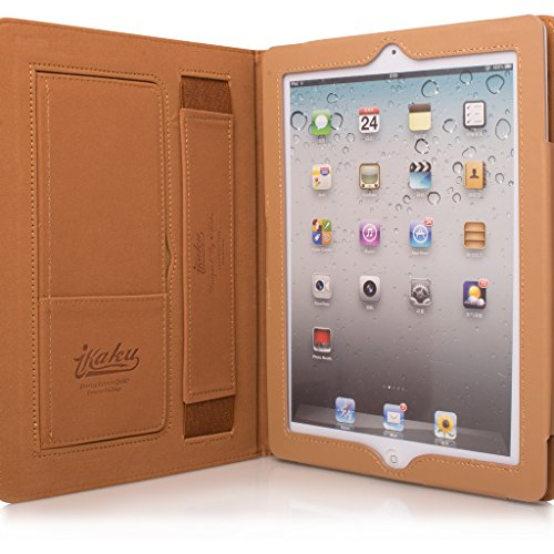 Price comparison product image Style Apple Ipad 2 Case, Soft PU Leather Smart Case Cover with Card Pocket For Apple iPad 2