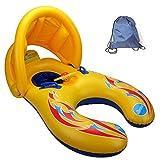 Schwimmring Schwimmhilfen Schwimmen Ring für Baby von 12 Monaten bis 3 Jahre und Mutter,Sonnenschutz UV