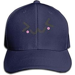 Kawaii Face Smile Sweet Cute Baseball Cap Unisex Fishing Caps Peaked Hats Ash