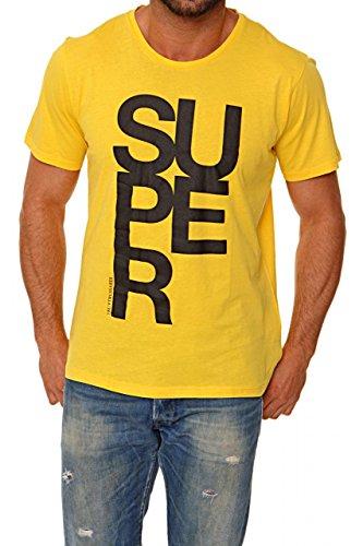 Trussardi tru maglietta stampata, colore: giallo, taglia: 3xl