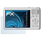 atFoliX Displayschutzfolie für Canon PowerShot S200 Schutzfolie - 3 x FX-Clear kristallklare Folie
