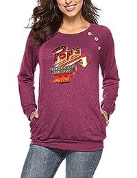 937852400b Amazon.it: Maglietta spalle scoperte - Rosso / Bluse e camicie / T ...