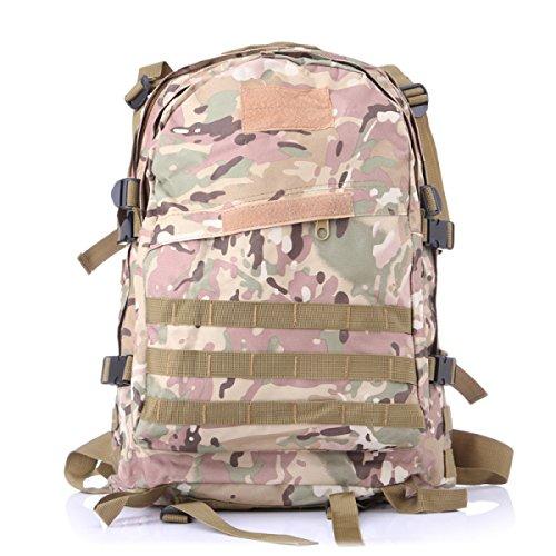Ad Alta Capacità Fan Militari Pack Outdoor Camping Uomini Borsa A Tracolla Zaino Alpinismo 3D Tattico Femminile Camuffamento,11 10