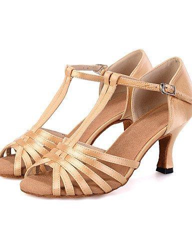 ShangYi Chaussures de danse(Noir / Vert / Ivoire) -Personnalisables-Talon Bobine-Satin-Ventre / Latine / Jazz / Baskets de Danse / Moderne /