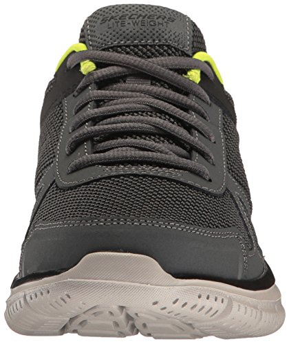 Scarpe Da Corsa Da Uomo Skechers Pista Grigio (carboncino / Lime)
