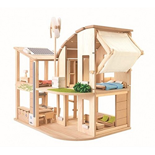 Plan Toys - 'Green' Doll's House with Furniture