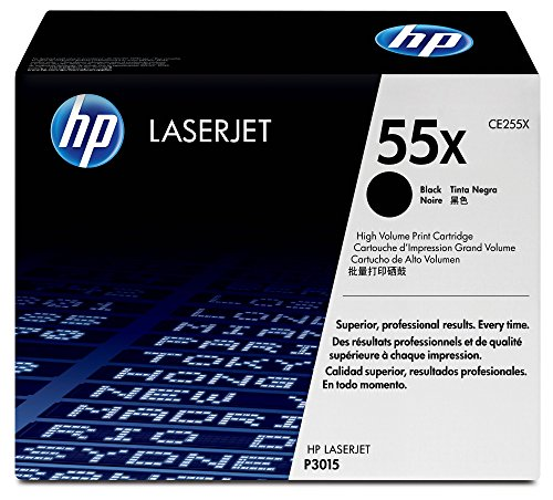 HP 55X CE255X pack de 1, haut rendement, toner d'origine, imprimantes HP LaserJet, noir