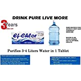 Ef-Chlor Water Purification Tablets, Pack of 100 Tablets,White