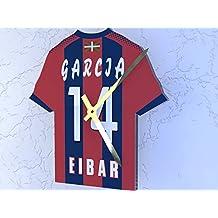 Reloj de camisa de fútbol primera la liga, Fútbol español, personalizable, SD Eibar Football Shirt clock