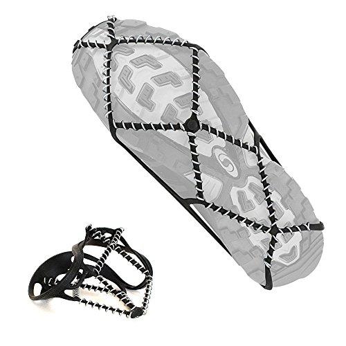 ALLY Unisex Schuhkrallen für Bodenhaftung auf Eis und Schnee, Anti-Rutsch Steigeisen Schuh Krallen Schneekette, Traktion Klampen über Schuhe Stiefel - Einheitsgröße (35-45 EUR)