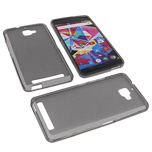 foto-kontor Tasche für Archos Diamond Plus Gummi TPU Schutz Hülle Handytasche grau