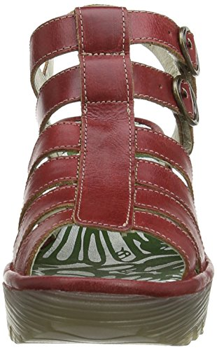 Fly London Damen Ygor Sandalen Rot (Red 002)