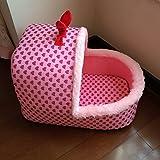 Pet Online Lettino Pet lo stile simpatico rosa pesca cuore pantofole di cotone tipo presepe quattro stagioni calde del cane e del gatto house, S: 50 * 30 * 25cm