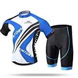 Sunday M?nner Breathable Kurzarm Radfahren Jerseys und Shorts Sets Radfahren Bekleidung Set für Bike, Biker, Fahrrad