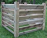 Komposter Stabil Aus Holz 100 x 100 x 80 cm - Ca. 650 Liter