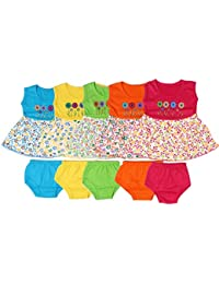Feel Trendy Cotton Frock for Baby Girls 6to 18 month(Pack of 5)