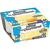 Nestlé P'tit Gourmand crème dessert vanille 4x100g dès 6 mois - ( Prix Unitaire ) - Envoi Rapide Et Soignée