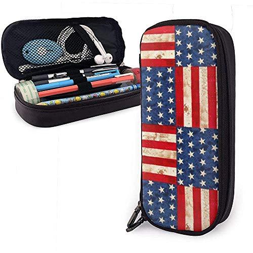 Kreative amerikanische Flagge Federmäppchen, Big Capacity Pencil Bag Makeup Pouch