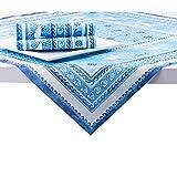Sovie HOME Linclass® Airlaid Tischdecke Seaside | Mitteldecke 80x80 cm stoffähnlich | edle Tischdeko Meer Muschel Koralle | blau - 4