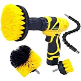 Cheston 3 Pcs Electric Drill Brush Power Scrub for Floor, Bathroom, Tile, Car, Grout, Kitchen and Other Cleaning