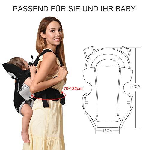 Manduca Babytrage Bauchtrage Rückentrage Hüfttrage rot - 5