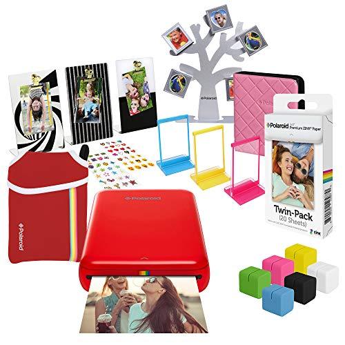 Polaroid Zip Stampante fotografica wireless (Rosso) Pacchetto regalo definitivo