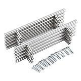 Yosoo–Paquete de 20tiradores de acero inoxidable para armarios de cocina