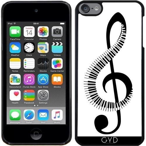 Für Klavier-hülle 4 Ipod (Hülle für Ipod Touch 6 - Clef-Musik-Klavier Musikalisch by WonderfulDreamPicture)