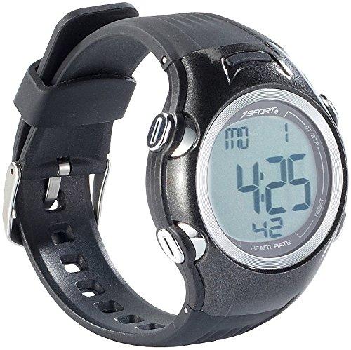 PEARL sports Fitness Pulsuhren: Fitness-Uhr, 3 Intensitätsstufen, LCD-Display, Stoppuhr-Funktion, IPX4 (Fitnessuhren)