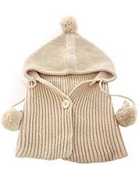 Waboats Invierno del bebé Niños Chicas Caliente Lana Bufanda Caps Sombreros