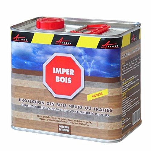 Imper Bois - Impermeabilizante hidrófugo para madera que permite conservar el aspecto natural de la madera de teca, pino, maderas éxoticas o roble