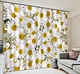 H&M Gardinen Vorhang Daisy Art UV ein warmer Schatten Tuch dekoriert Schlafzimmerfenster Vorhangstoff fertigen 3D-Druck , wide 2.64x high 1.6