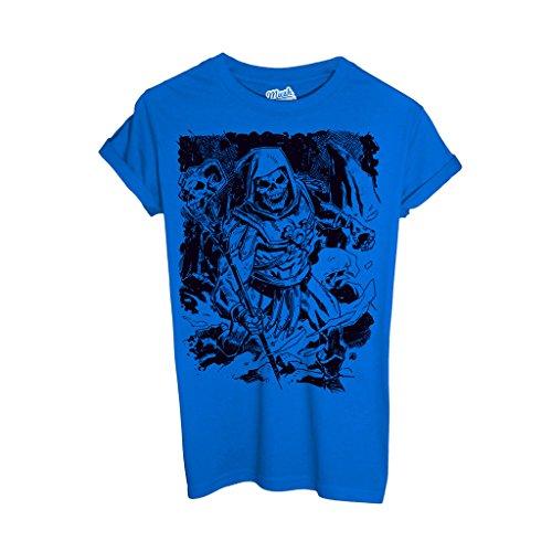 T-Shirt Skeletor Master Of The Universe- He Man - CARTOON by Mush Dress Your Style - Herren-L-Blau (Skeletor T-shirt)