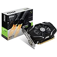 MSI GeForce GTX 1050 2G OC - Tarjeta gráfica (refrigeración optimizada, 2 GB memoria GDDR5)