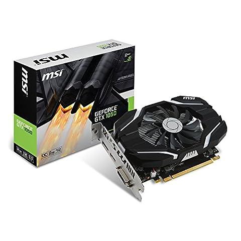 MSI NVIDIA GeForce GTX 1050 2G OC 2 GB GDDR5 128 Bit Memory HDMI/DP/DVI PCI Express 3 Graphics Card -