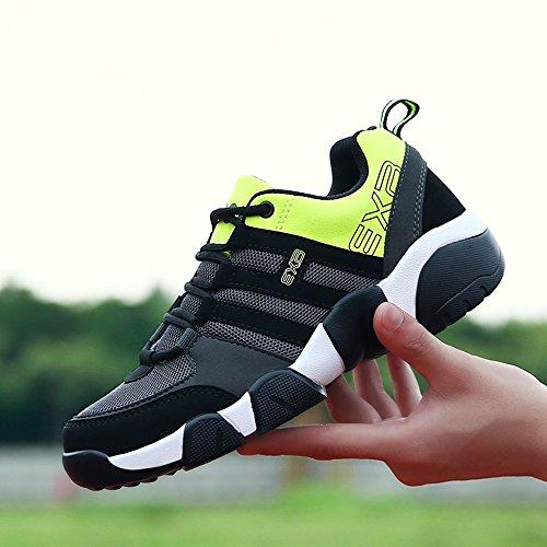 scarpe da corsa per uomo di sport all'aperto,scarpe sportive unisex adulto Verde