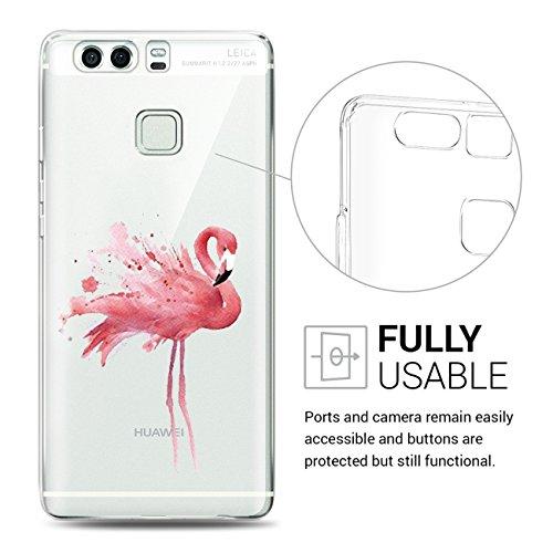 Qissy®Huawei P9 Cover Custodia, Huawei P9 Cover Morbido TPU Case Cristallo Trasparente Gel Silicone Ultra Slim Custodia Protezione Posteriore Cover Antiurto per Huawei P9 (Huawei P9, 10) 1