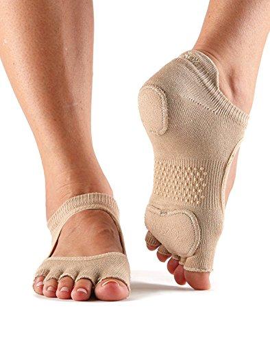 Damen 1 Paar ToeSox Prima Halb-Zehe Offener-Fuß Tanz Ballett Socken - Nackt M