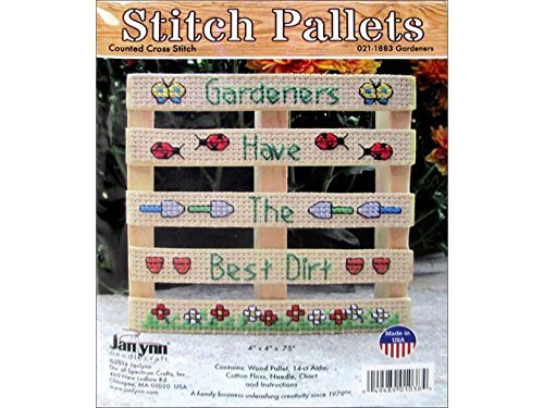 - Janlynn Wood Pallet Gardeners Counted Cross Stitch Kit-4X4 14Count by Janlynn