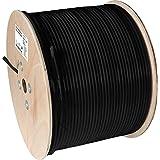 Axing SKB 11-03 câble coaxial enterré RG11 SAT CATV TNT 300 m tambour de câble noir
