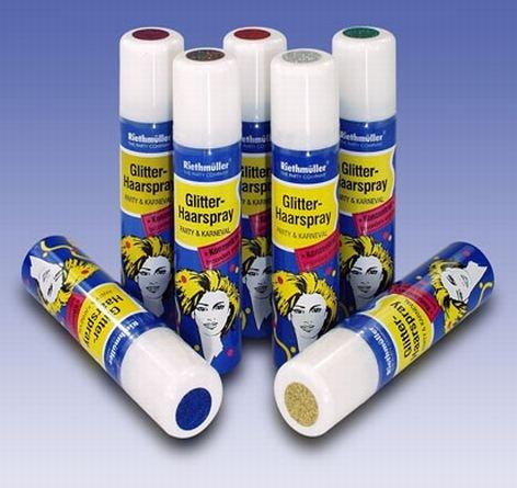 Glitzer-Haarspray auswaschbar 100 ml lila