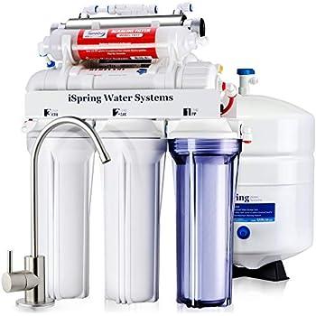 Ispring Rcc7ak Uv 7 Stage Under Sink Reverse Osmosis
